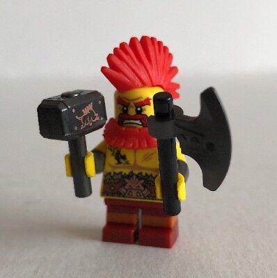 Battle Dwarf 71018-10 COL295 RBB LEGO Collectable Mini Figure Series 17