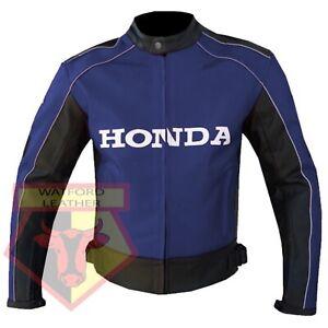HONDA-5523-BLUE-MOTORBIKE-MOTORCYCLE-BIKERS-COWHIDE-LEATHER-ARMOURED-JACKET
