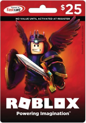 A Roblox Gift Card Physical Online 25 Dollar Value For Robux Fast