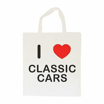 I Love Classic Cars - Cotton Bag | Size choice Tote, Shopper or Sling
