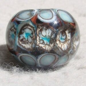 ARLEQUÍN #3 Handmade Art Glass Focal Bead Flaming Fools Lampwork Art Glass SRA