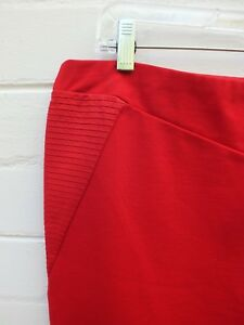 WITCHERY-RED-Pencil-Straight-TUBE-BodyCon-Skirt-16-LARGE