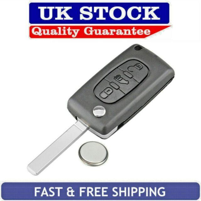 Citroen 2 Button Remote Flip Key Fob Case Service Repair Kit Fits Dispatch C8