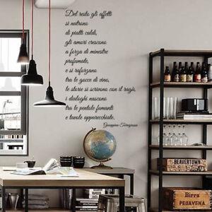 Wall stickers frase frasi adesivi murali decorazione for Stickers murali cucina