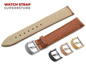 For-CARTIER-Watch-Brown-Strap-Band-Genuine-Leather-SNAKE-Style-Buckle-Clasp