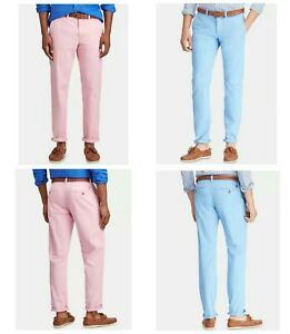 Polo-Ralph-Lauren-Men-039-s-Pants-30-32-33-34-36-38-40-Straight-Fit-Stretch-Chino