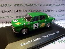 Voiture 1/43 Eligor/ UH Hachettes : RENAULT sport : R 8 gordini coupe Gordini 68