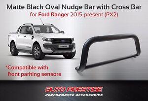 Ford-Ranger-PX1-PX2-PX3-2012-present-Matte-Black-Sensor-Compatible-Nudge-bar