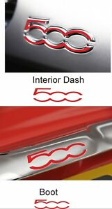 Fiat-500-595-Dash-amp-Boot-Overlay-inlay-Decals-stickers-badges-Vinyl-Abarth-x4