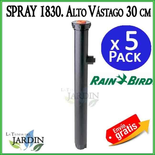 5 X Diffusor Rain Bird 1812. Körper Regner 40 cm Hub 30 cm ohne Düse Rainbird