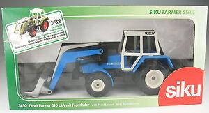 SIKU-FARMER-3450-FENDT-Traktor-mit-Frontlader-blau-Upat-WERBEMODELL-1-32