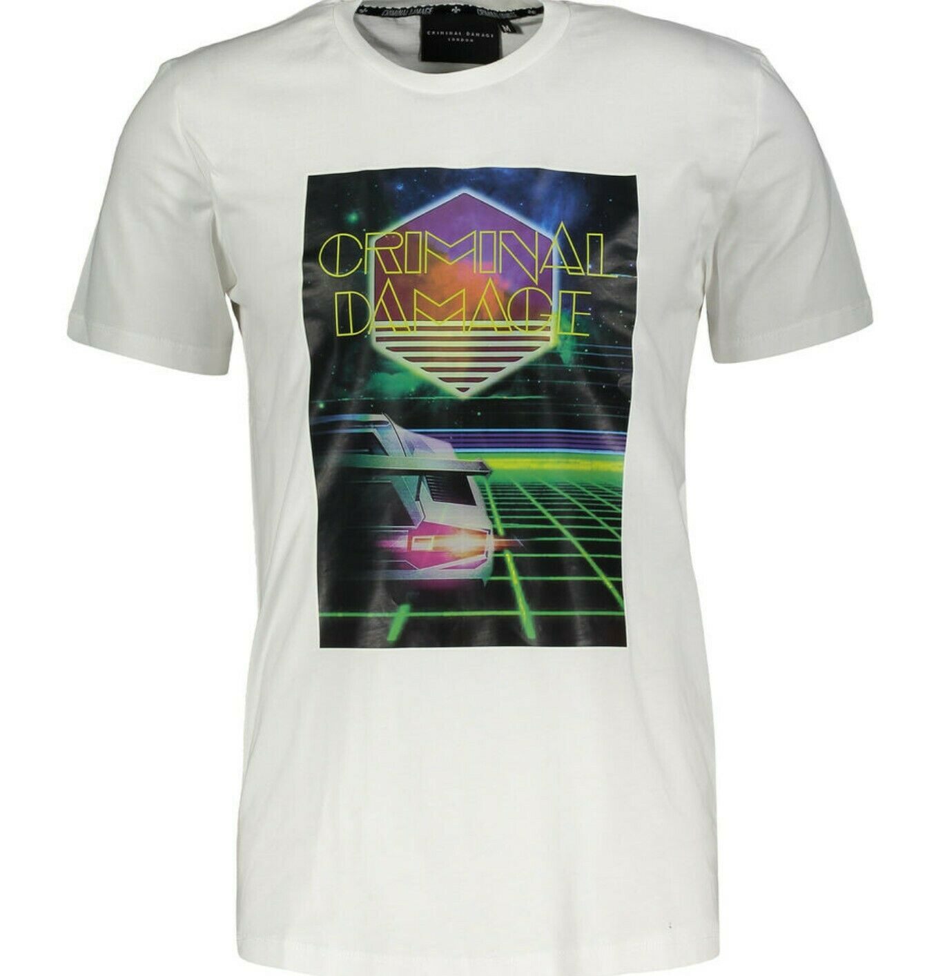 CRIMINAL DAMAGE Men's Speed Digital Graphic Print T-shirt
