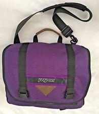 "Purple 11X15 JanSport Tote Messenger Bag Purse 44"" Adjustable Handle"