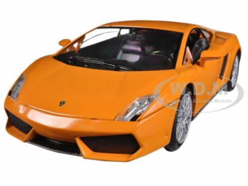 LAMBORGHINI GALLARDO LP560-4 ORANGE 1//24 DIECAST MODEL CAR BY MOTORMAX 73362