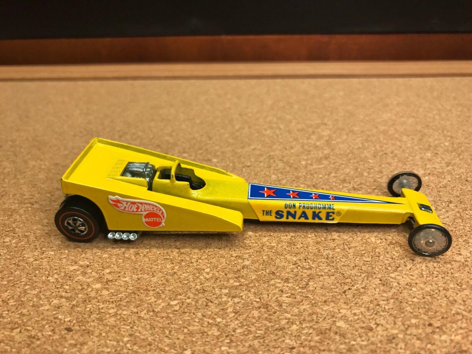 Rare 1971 Vintage Hot Wheels Redline Dragster  Snake  Don Prudhomme