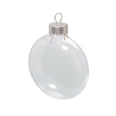 Lot Of Clear Glass Christmas Ornaments Various Shapes Fillable For Crafts Diy Ebay