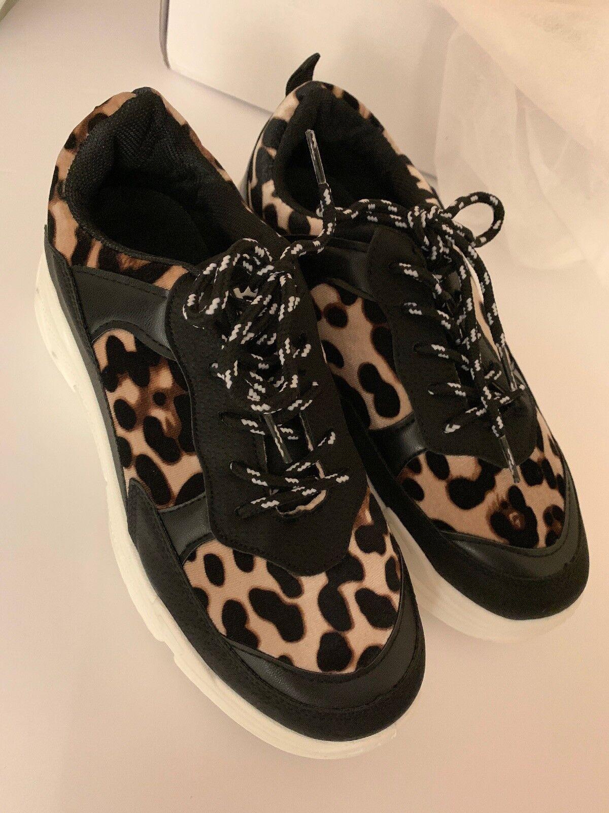 Leopard Leopard Leopard Chunky Bulky scarpe da ginnastica Dimensione 8 a6af50