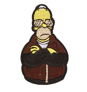 Homer Simpson Iron On Embroidered Patch The Simpsons Cartoon TV Show Cool Gift