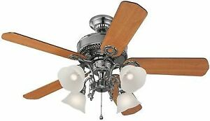 Harbor Breeze 52 Polished Pewter Ceiling Fan With Light Kit