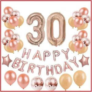 30th Birthday Decorations Party Supplies For Women Rose Gold Dirty Thirty Bday 696232872265 Ebay