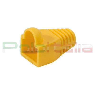 10x Copri Connettore Gommino Per Plug Cavo Di Rete Cat6 Ethernet Rj45 Lan Giallo