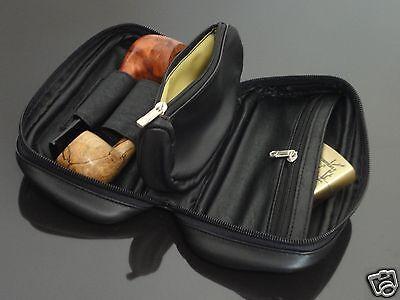 BIGBEN PORTABLE VERSATILE SMOKING TOBACCO PIPE BAG FOR 2 PIPE(no pipe) #246
