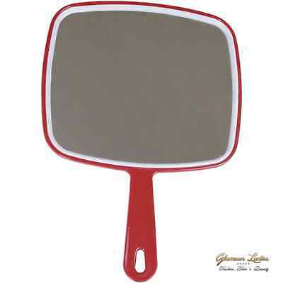 Red Hand Held Salon Mirror Hair Dressing Supplies Professional Also For Beauty