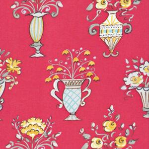Freespirit dena designs tea garden chai fabric in red df82 for Dena designs tea garden fabric