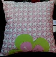 Colormate Kids 16 X 16 Decorative Pillow - Abby Plaid - Brand With Tags