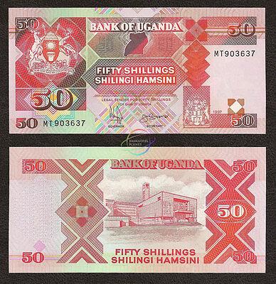 UGANDA 50 Shillings 1997 P-30c UNC Uncirculated