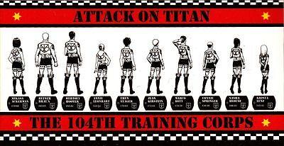 The 104th Training Corps Bath Towel anime Attack on Titan, Shingeki no Kyojin