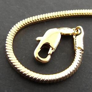 FS946-GENUINE-REAL-18CT-YELLOW-G-F-GOLD-SOLID-SNAKE-LINK-PENDANT-NECKLACE-CHAIN