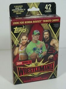 2019 Topps Road to WrestleMania Sealed Pack Trading Cards 42 Card Pack