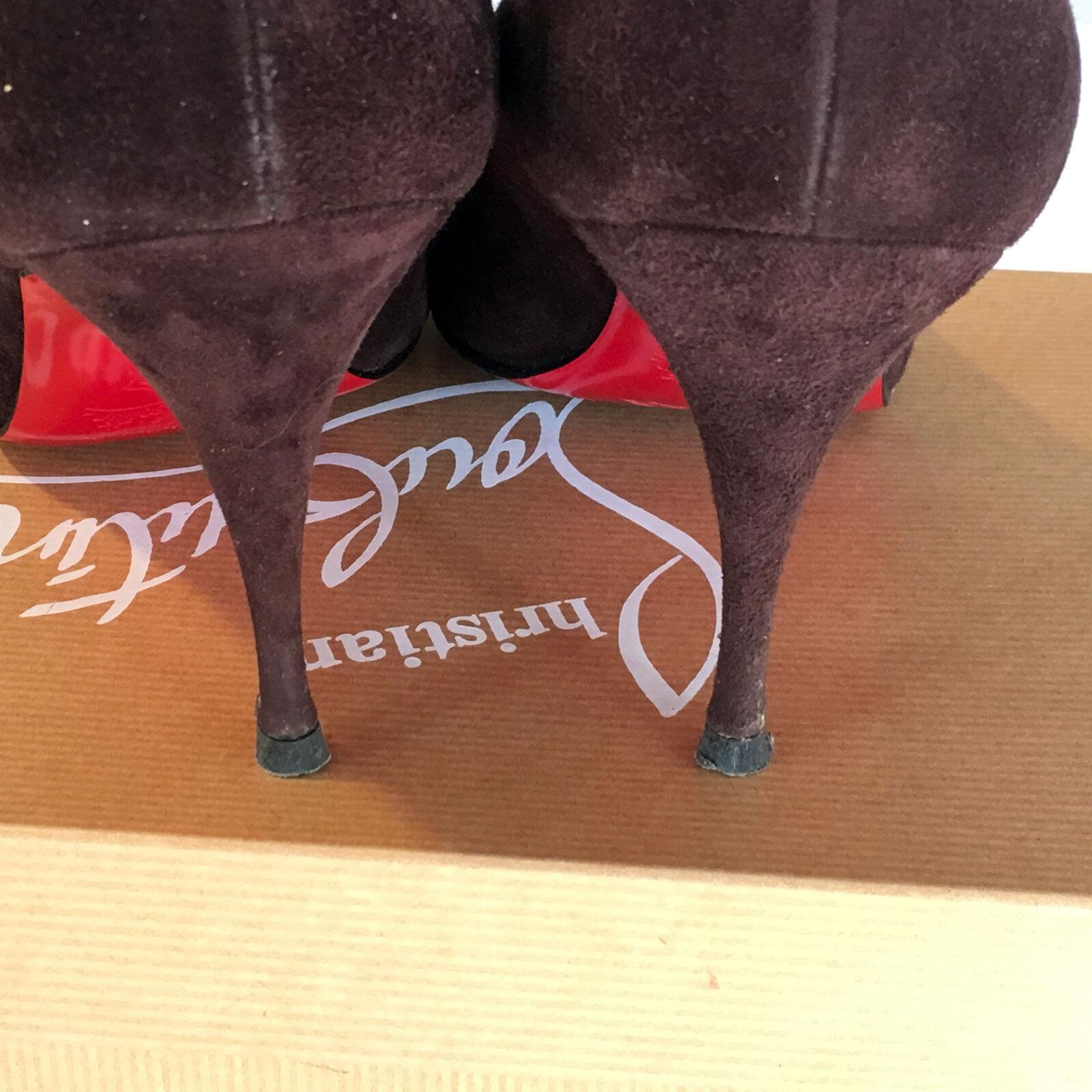 Christian Christian Christian Louboutin   Yoyo 85 Peep Toe Pumps in braun Suede– Größe 38 B 955c94