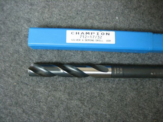 Made In USA 712-17//32 Champion Cutting Tool Silver /& Deming 1//2 Shank Drill