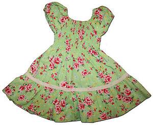 Divine-LITTLE-FAIRY-COLLECTION-Size-1-Apple-Green-Chintz-Rose-TWIRL-Dress