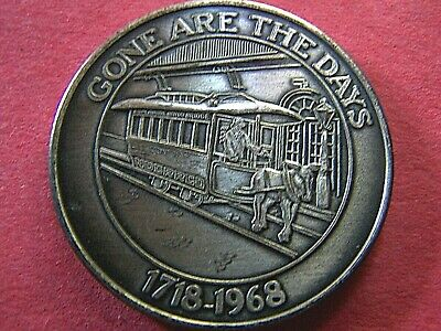 1968 Krewe of CRESCENT CITY oxidized silver Mardi Gras Doubloon