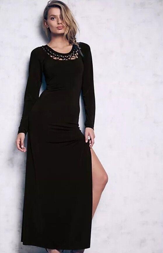 81c817fc6a8 ... NEW 289 Cecilia de Bucourt Tie Knot Maxi Long Long Long Dress Size XS  d1d61d ...