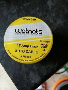 Pearl-PWN690-Electrical-Wiring-Single-Mini-Cable-Reel-17Amp-x-4m-Black
