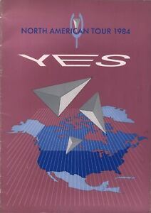 YES-1984-9012-LIVE-N-AMERICAN-TOUR-CONCERT-PROGRAM-BOOK-JON-ANDERSON-EX-2-NMT