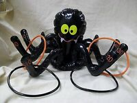 Inflatable Black Spider Ring Toss Game Fun Halloween Party Game Fall Carnival