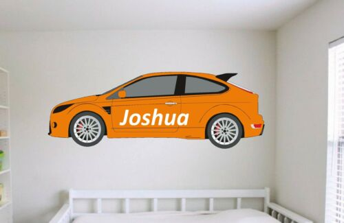 Focus ST RS Personalised Boys Name Sports Car Bedroom Wall Art Sticker