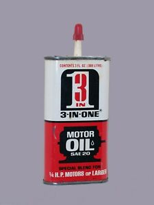 Vintage-3oz-Twist-On-cap-3-IN-ONE-OIL-TIN-CAN-HANDY-OILER-1950s