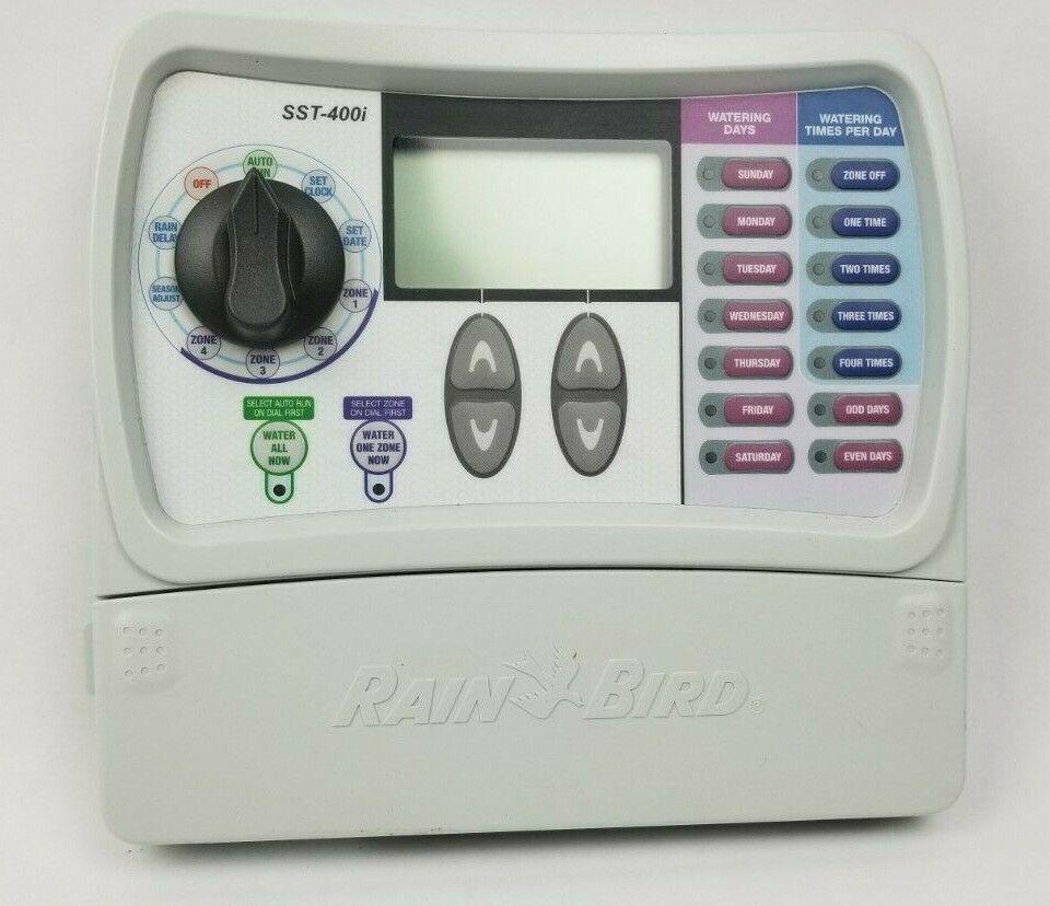 Rain Bird SST-400i Sprinkler Irrigation 4-Zone Timer Controller w/power cord