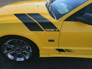 2005 Ford Mustang For Sale >> Hood-Fender Hash Stripe Stripes Decals Graphics fit 2005-09 Ford Mustang Saleen | eBay