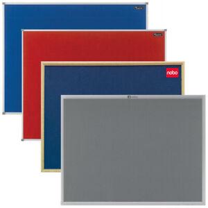 Nobo-amp-Quartet-Felt-Notice-Board-1800-x-1200-900-x-600-Aluminium-Or-Oak-Frame