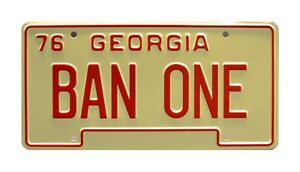 Smokey-and-the-Bandit-Burt-Reynolds-BAN-ONE-Screen-Accurate-License-Plate