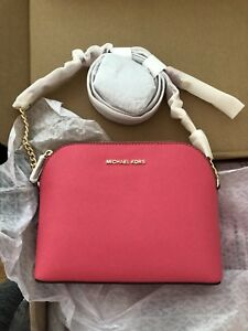 39df6285bfb4 Image is loading NWT-Genuine-Michael-Kors-Cindy-LARGE-Leather-Crossbody-