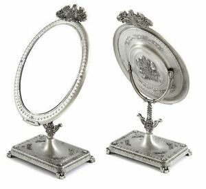 antique style table mirror makeup mirror standing stand luxury vanity zinc gift ebay. Black Bedroom Furniture Sets. Home Design Ideas