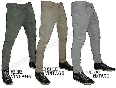 Discreto Pantalone Jeans Uomo Y.two Denim Cavallo Basso Vintage Art Y1123 Dalla 42 A 52 Sconti Prezzo